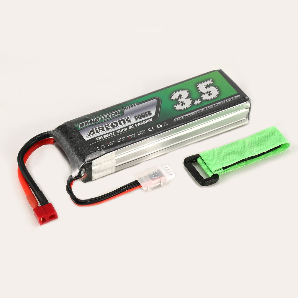 Airtonk Power 11.1V <font><b>850mAh</b></font> 45C <font><b>3S</b></font> 1P <font><b>Lipo</b></font> Battery JST Plug Rechargeable for RC Racing Drone Quadcopter Helicopter Car Boat image