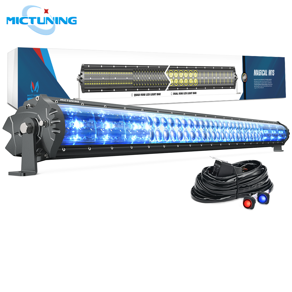 MICTUNING Magical M1s 42 Aerodynamic Auto LED Light Bar 22680LM Off Road Driving Work Bulb w