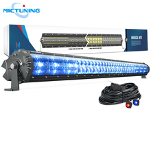 MICTUNING Magical M1s 42 Aerodynamic Auto LED Light Bar 22680LM Off Road Driving Work Bulb w/ Wiring Harness & Atmosphere Lamp