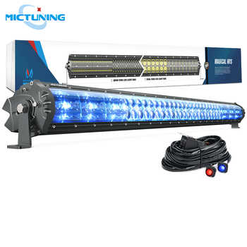 MICTUNING Magical M1s 42'' Aerodynamic Auto LED Light Bar 22680LM Off Road Driving Work Bulb w/ Wiring Harness & Atmosphere Lamp - DISCOUNT ITEM  38% OFF All Category