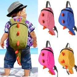 Nueva mochila de lona de dibujos animados Kawaii Monster, pequeños dinosaurios, Snacks, juguete de moda, mochila para niños