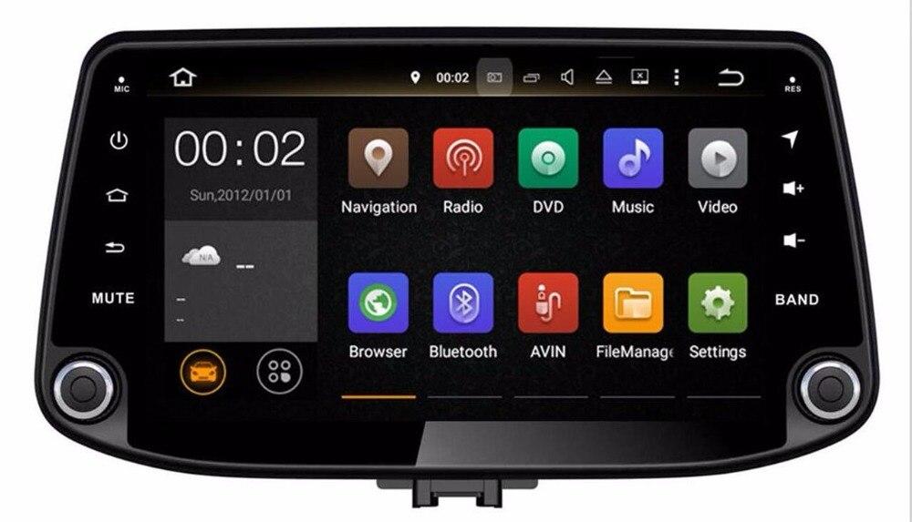 Octa Core RAM 4G ROM 32G Android Fit Hyundai i30 2017-lecteur DVD de voiture Navigation GPS Radio