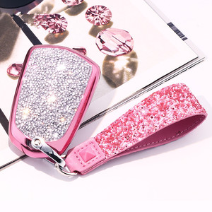 Image 5 - Artificial Crystal key case cover Key case protect shell holder for Cadillac ATS CT6 CTS DTS XT5 Escalade ESV SRX STS XTS ELR