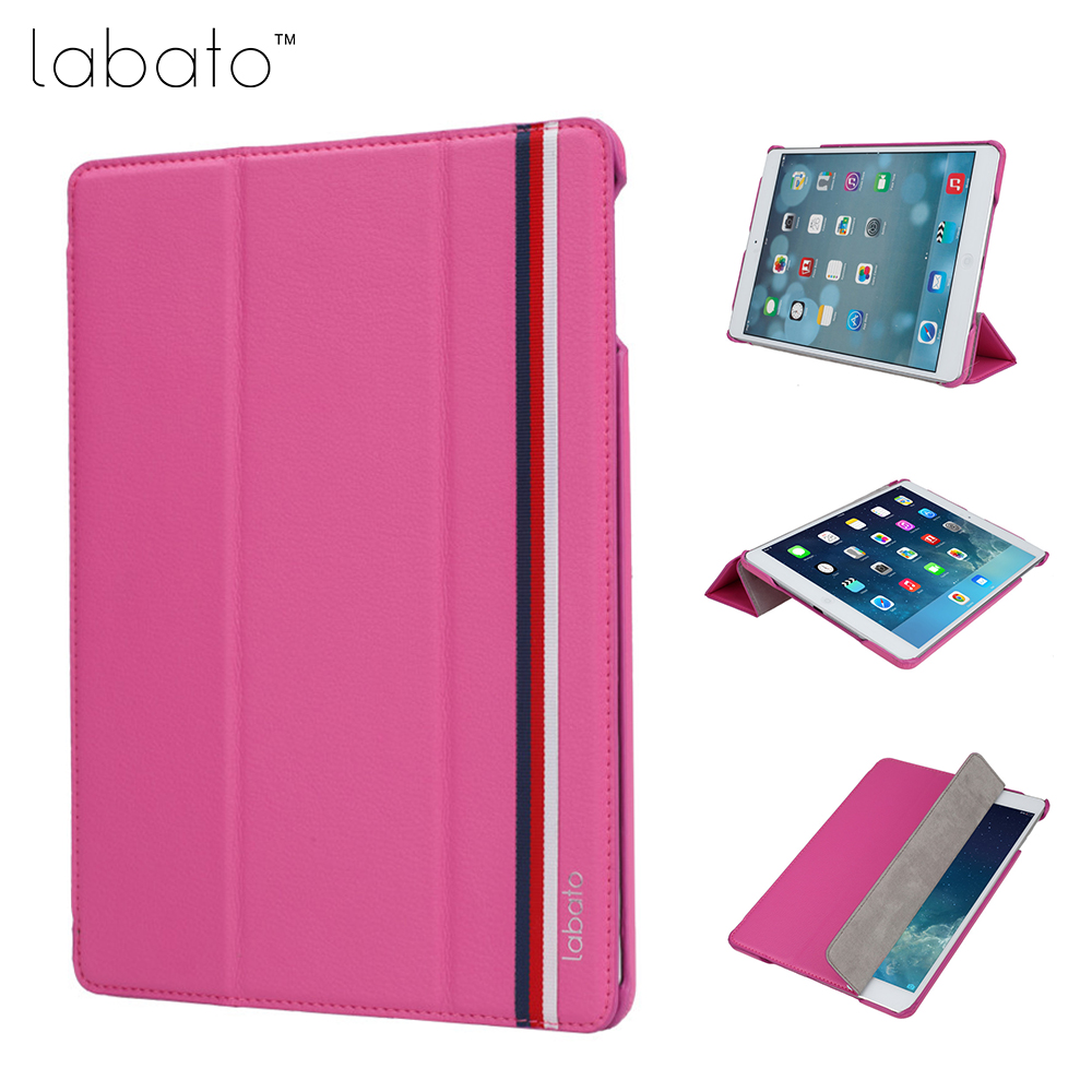 Labato Slim Smart Cases for iPad air 1 air 2 9.7 inch 2017 New Case PU Leather Flip Cover for iPad 9.7 2017 Tablet Cases flip left and right stand pu leather case cover for blu vivo air