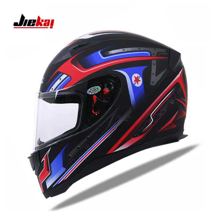 NEW JIEKAI Full Face motorcycle helmet , knight racing motorbike moto motocross JK-313 helmet four seasons size M L XL XXL new motorcycle helmet protection anti fall anti impact windproof helmet retro helmet racing helmet for unisex size l xl