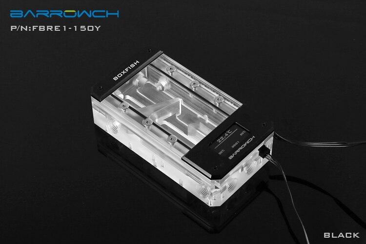 Barrowch Boxfish Acrylic Transparent Square Digital Reservoir Tank 150mm FBRE1-150Y wt 039 acrylic reservoir w temperature display transparent 0 8l