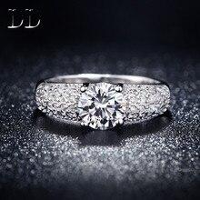 Когтя bague серебряное алмазов четыре bijoux cz обручальное femme свадьба кольца