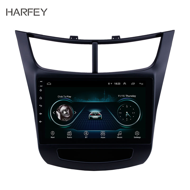 Harfey for Chevy Chevrolet New Sail 2015 2016 9 Android 8 1 HD Touchscreen Bluetooth GPS