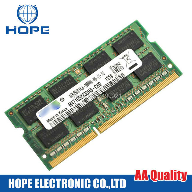 Para Sumsung DDR3 PC3-10600 S-09-11-F3 M471B5273DH0-CH9 1319 4 GB 2Rx8 Memoria Chip Bar Para Macbook Pro A1278 A1286 A1297