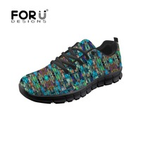 FORUDESIGNS 2018 Casual Shoes Women The Mad Scientist's Glass Sneakers Breathable Ladies Black Chaussure Autumn Female Footware