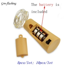 5pcs / lot 10pcs / lot Vinflaska Cork LED Stränglampor MED BATTERI Julgransdekoration LED Garden Party Light Decoration