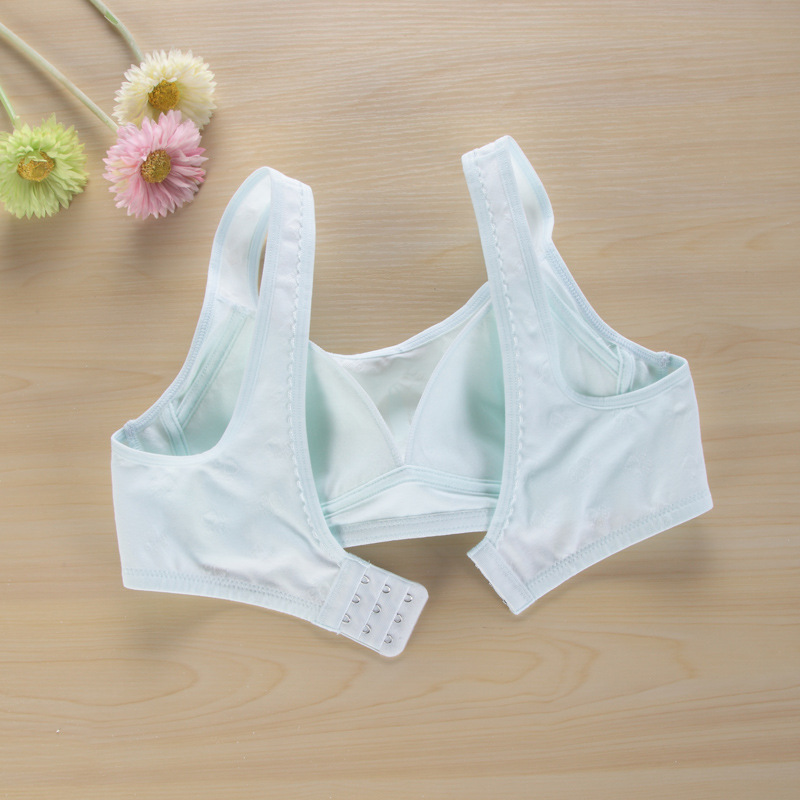 2017 New Arrived Girl Bra Cotton Teenage Underwear Training Bra For Kids Child Bralette Panties Lingerie Y7103