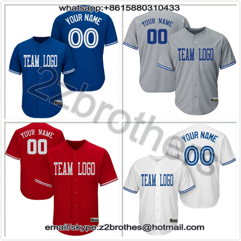 a8fd2606 China OEM Custom Baseball Jersey Full Button Design DIY Your Own College  T-Shirt Stitch Logo Name Number Men Women Youth Toronto ~ Best Deal July  2019