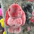 Роскошные Мороз Красный/Серый Пушистый Кролик Куклы Брелок Девушки Школьная Сумка Шарм Мода Молодежь Девушка Кошелек Сумочка Шарм