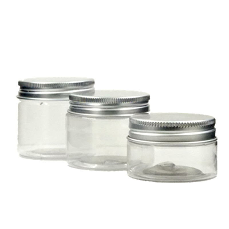 24pcs/lot 30ml/50ml/60ml Pet  Jar With Aluminium Cap ,cream /Cosmetic Jar,Cosmetic Packaging,container,bottle