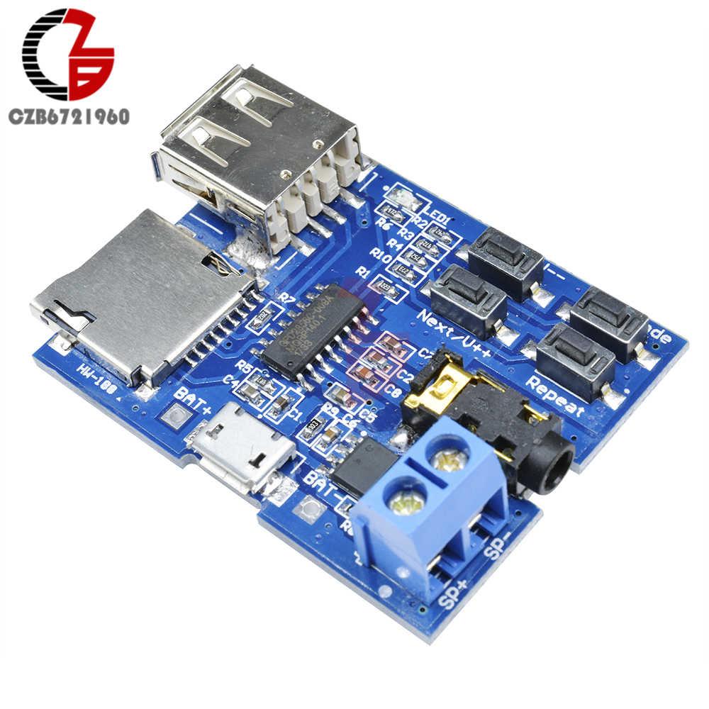MP3 Decoder Board Mono Audio Amplifier Board USB TF Micro SD
