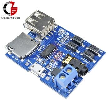 Placa decodificadora de MP3, placa de amplificador de Audio Mono, USB, TF, ranura para tarjeta Micro SD, U Disk, decodificador de sonido, reproductor de Audio, módulo MP3