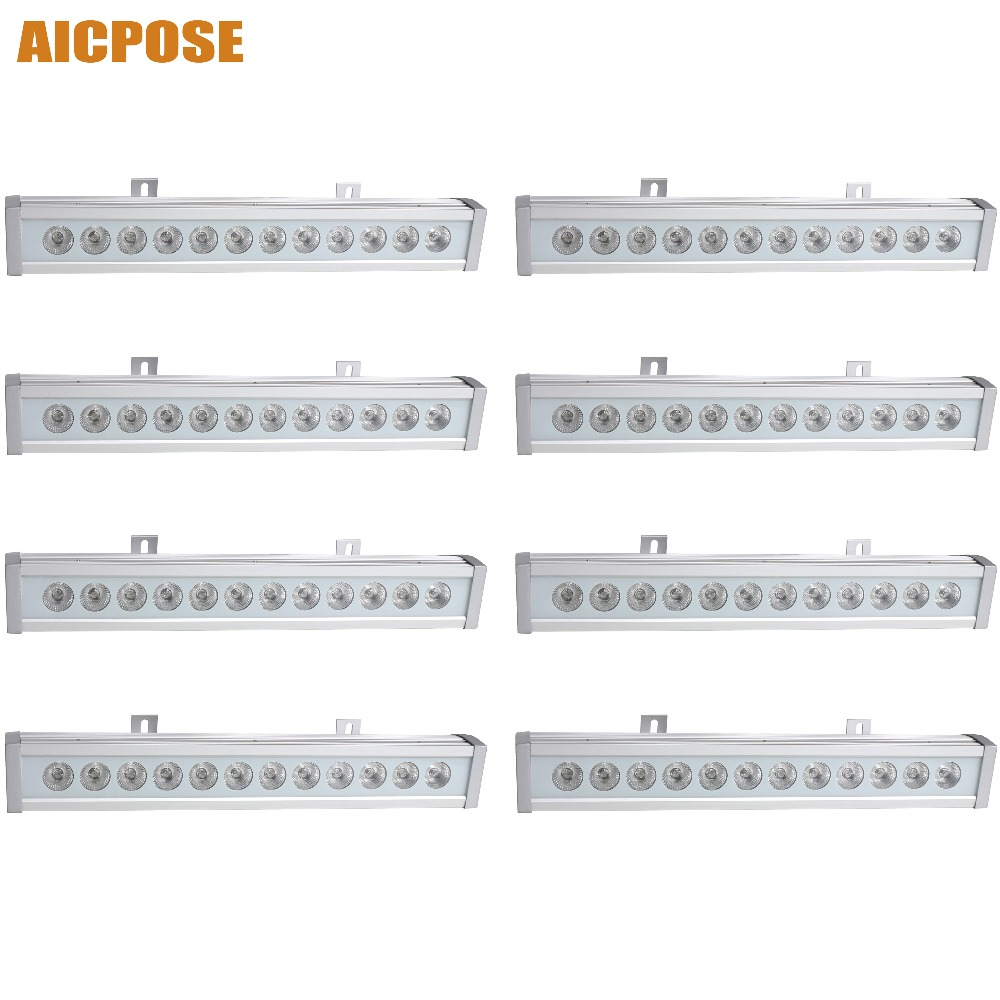 8pcs/lots IP65 waterproof Led 12x12w RGBW 4in1 bar Wall Wash Light Led DJ Bar Disco Wedding Stage Light led rgb wall wash bar light dmx512 night club wedding party disco stage