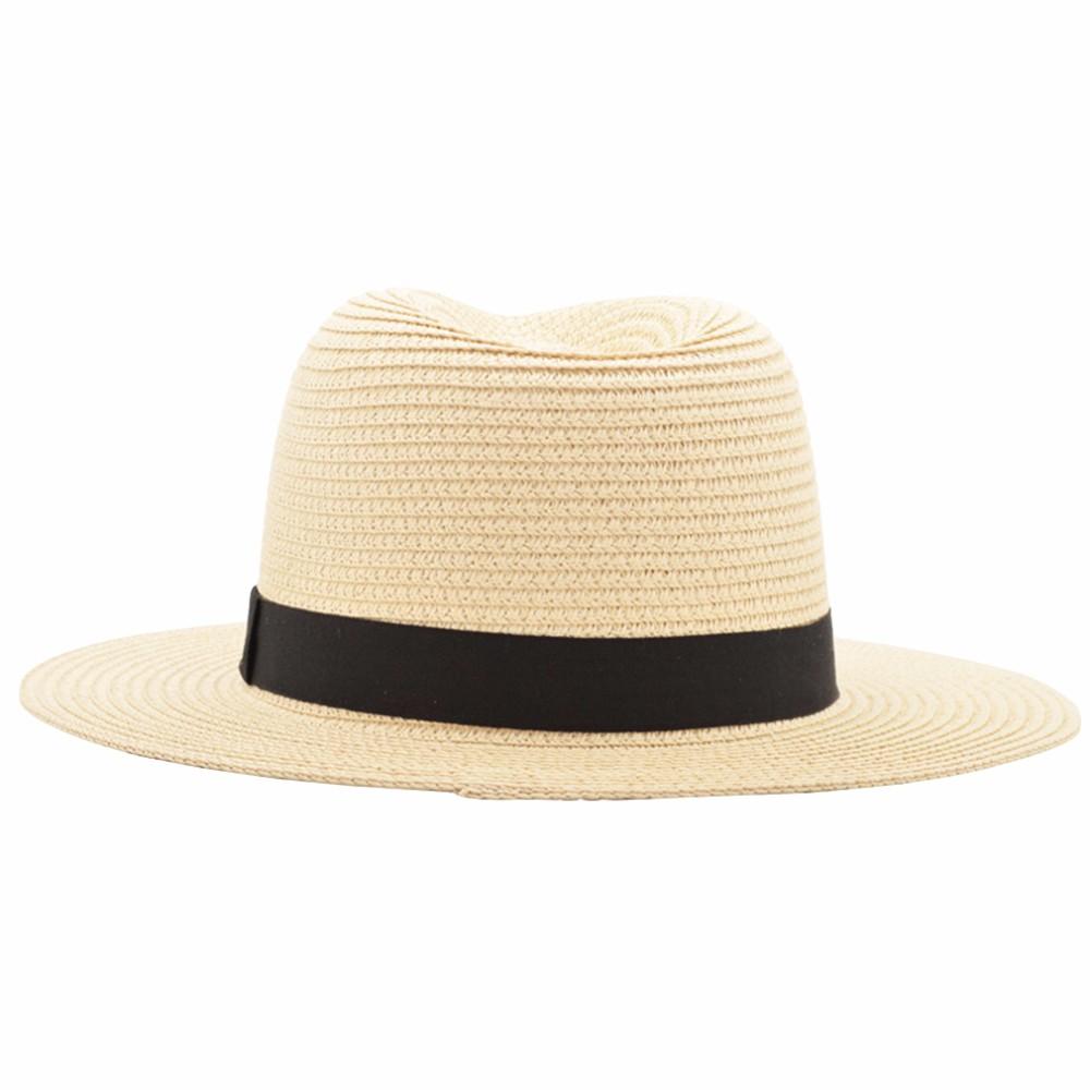 Nuevos sombreros del verano para las mujeres negro cinta del ... dd159493be0
