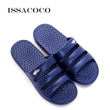 ISSACOCO 2018 Shoes Men Slippers Sandals Summer Flip Flops Non-slip Solid Color Home Pantuflas Chinelo