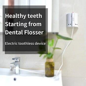 Модный 10 сопло кран ирригатор для полости рта с зубной щёткой насадка для очистки языка портативный водоструйный распылитель для ирригации...