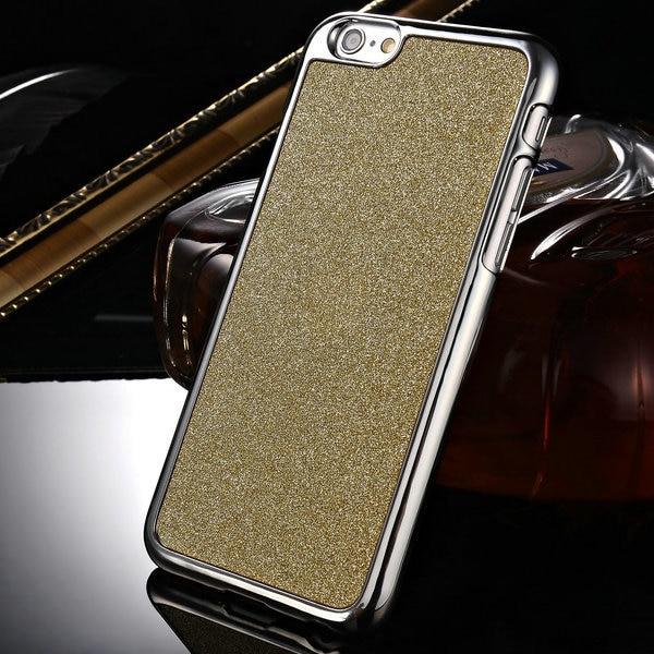 e0bc40edcf Glitter Dur Cas Pour iPhone 6 6 s 4.7 pouces Mobile Couverture Arrière Pour  iPhone 6 s Boîtier En Plastique De Mode Bling Téléphone Sac Drop Ship