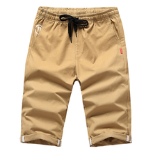 Shorts Mens Summer Cotton Breathable Cropped Elastic Waist Large Size S-4XL Straight Casual Sports Beach