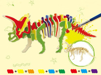 Robotime Kids Gift DIY 3D Wooden Puzzle Dinosaur Model Can Be Painted Home Decor Handmade Educational