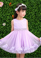 Eleven Story Sleeveless Pearls Flowers Girls Summer Baby Princess Party Tutu Dresses Kids Clothes AA610DS18R
