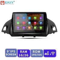 EKIY 9 ''2.5D Автомобильный мультимедийный плеер не 2 Din Android Авторадио для Ford Kuga 2013 2017 gps навигация стерео Поддержка 3g/4 г/WIFi