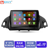 EKIY 9'' 2.5D Car Multimedia Player Not 2 Din Android Autoradio For Ford Kuga 2013 2017 GPS Navigation Stereo Support 3G/4G/WIFi