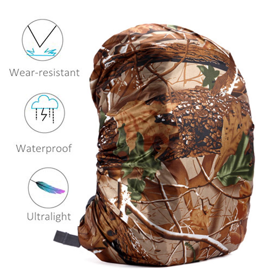 Rain cover backpack 20L 30L 35L 40L 50L 60L Waterproof Bag Camo Tactical Outdoor Camping Hiking Climbing Dust Raincover          1