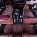 Esteiras do Assoalho do carro Cobre top grade anti-scratch resistentes ao fogo durável 5D tapete de couro à prova d' água Para BMW 520 525 528 535 550