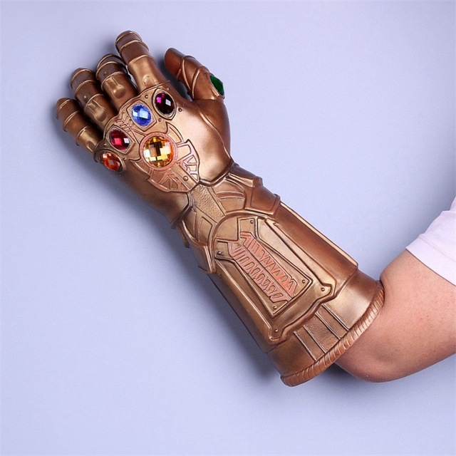 1 Piece 2018 Movie Avengers 3 Infinity War Thanos Cosplay Glove Hands Gauntlet Movable Fingers Props Halloween Party