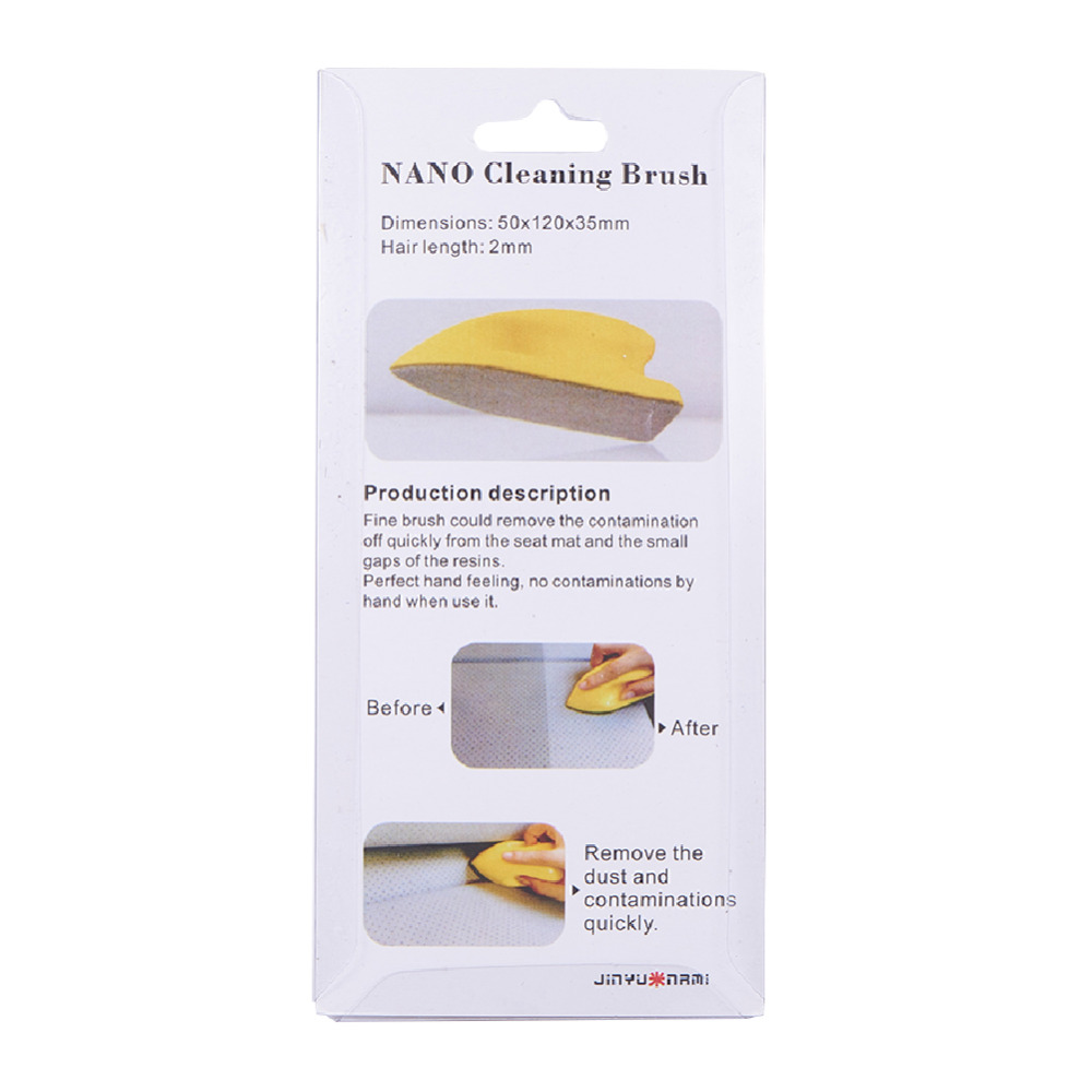 Car Leather Seat Cleaning Brush Car Felt Washing Tool Handle Detail Nano Auto Car Interior Cleaning Car Accessory 1pcs Vinyl in Sponges Cloths Brushes from Automobiles Motorcycles