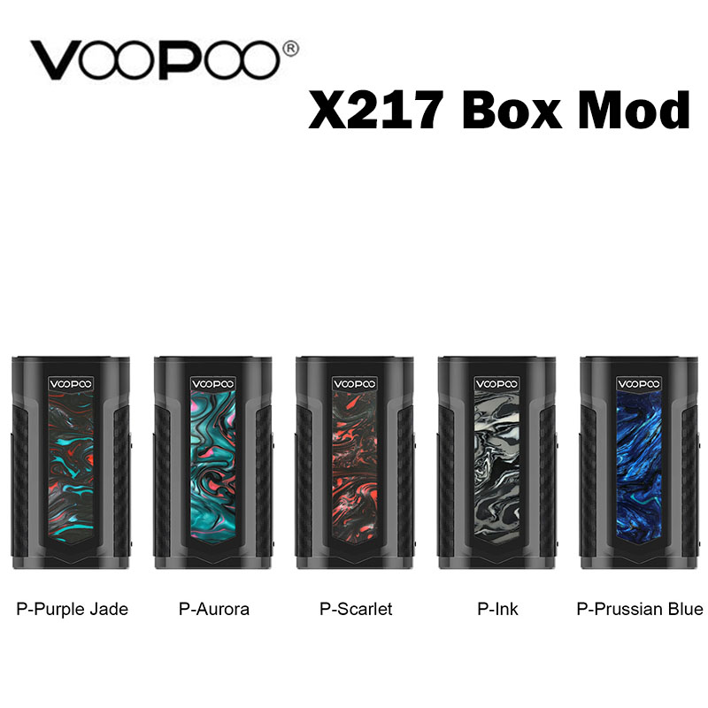 VOOPOO X217 Box Mod 217W Vape Mod US GENE Chip Powered By 18650 20700 21700 Battery Electronic Cigarettes VS Drag 2 Box Mod