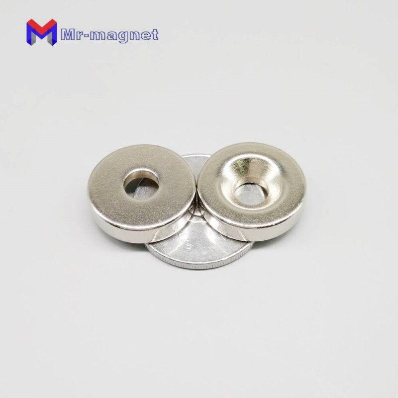 Liberal 50 Stücke N35 20x5-5mm Disc Versenkten Magneten 20*5-5 Neodym Rare Earth Magnet Magnetische 20x5mm Mit Loch 5mm Heimwerker