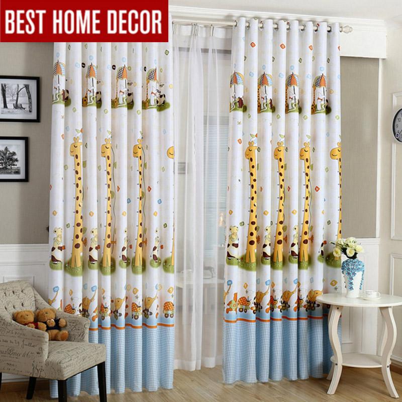 jirafa de la historieta moderna cortinas opacas para el cuarto del nio nios nios cortina para