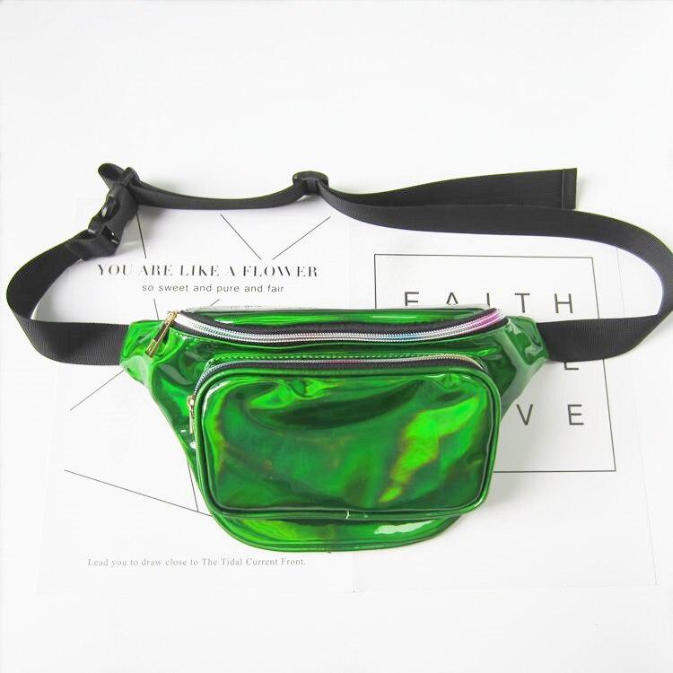 água pacote de cintura bloco Leather Pouch : Leather Fanny