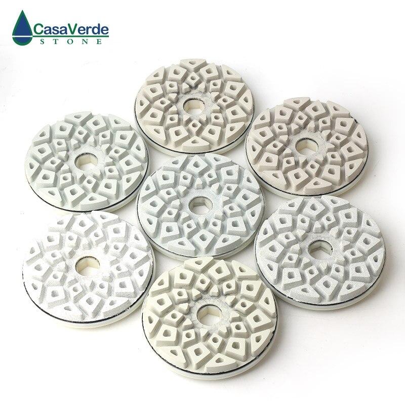DC-LEGPP01 tampons de polissage de bord de 5 pouces pour roues de polissage abrasives en marbre et granit
