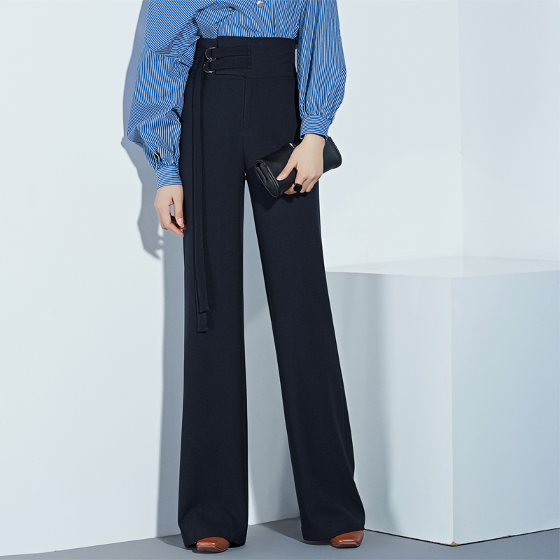 2018 autumn and winter Fashion casual plus size female women girls high waist wide leg clothing clothes trousers pants