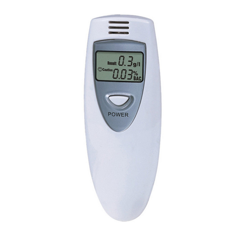 Bærbar Mini LCD Professional Alcohol Analyzer Police Digital Breathalyzer Alkohol Tester Detector