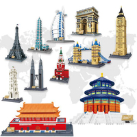Nano Small Building Blocks Building Model DIY Educational Toys Notre Dame Cathedral Taj Mahal Paris Iron Pisa Leaning Tower Gift