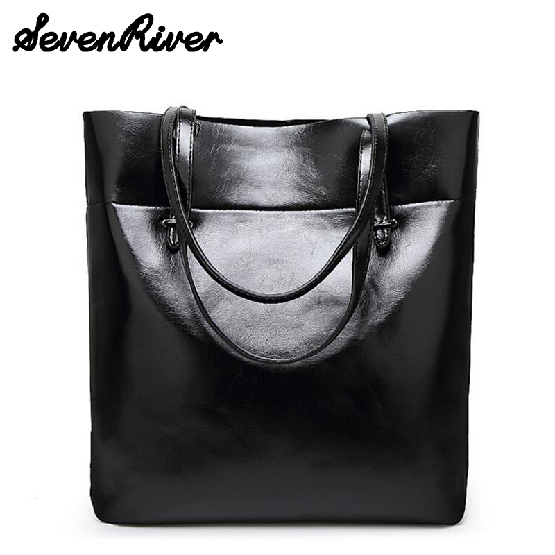 ФОТО Fashion Woman Oil Leather Shoulder Bags Famous Brand Luxury Women Bags Designer High Quality PU Totes Women Mujer Bolsas