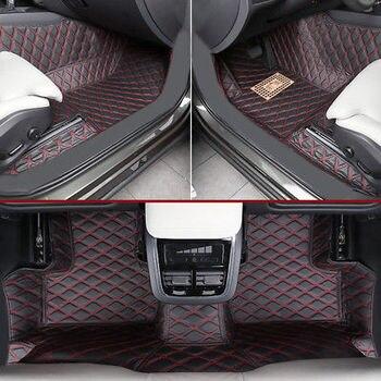 右手ドライブ革インテリアフロアマット & カーペット 1 セットボルボ XC60 2018