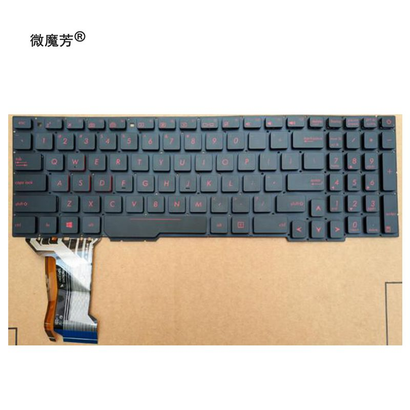 US Laptop Keyboard For ASUS GL553 GL553V GL553VW ZX553VD ZX53V ZX73 FX553VD FX53VD FX753VD FZ53V English keyboard with backlit korean laptop keyboard for asus gl553 gl553v gl553vw zx553vd zx53v zx73 fx553vd fx53vd fx753vd fz53v kr keyboard with backlit