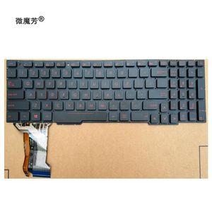 US Laptop Keyboard For ASUS GL553 GL553V GL553VW ZX553VD ZX53V ZX73 FX553VD FX53VD FX753VD FZ53V English keyboard with backlit