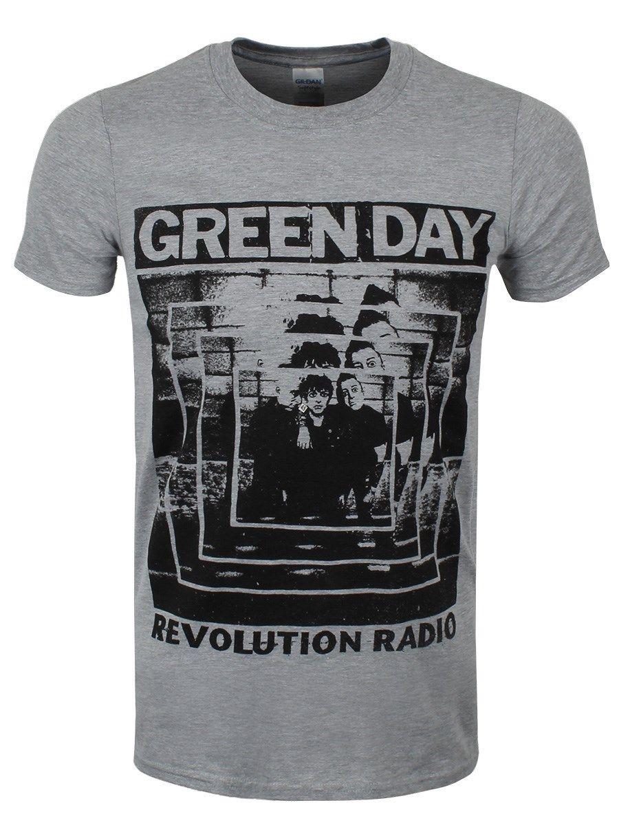 Green Day Power Shot Mens Grey T-shirt Fashion T-Shirts Summer Straight 100% Cotton