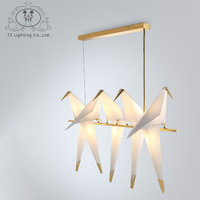 TZ Modern Origami Crane Bird Pendant Light Nordic Style Creative Design Personality Lamp Hanging Hotel Hall Parlor Bedroom Bar