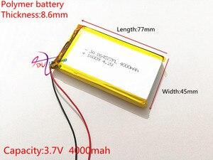 3.7 v lithium polymer battery 4000 mah 864577 mobile power supply tablet 7 'tablet